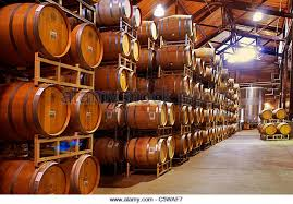 oak wine barrels. oak wine barrels stock image