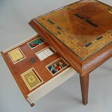 Wooden Monopoly Board Game 100 year old wooden monopoly board converted into a games table 24