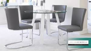 4 seater white gloss and glass table