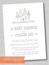 Camping Themed Birthday Party Invitations  CimvitationCamping Themed Baby Shower Invitations