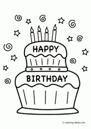 birthday coloring pages printable.  Birthday Cake Happy Birthday Party Coloring Pages U2013 Nice Coloring Pages For Kids  Intended Printable H