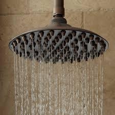 unique bronze shower head extension arm