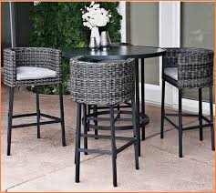 outdoor high top table and chairs bar height patio furniture costco cool round woven