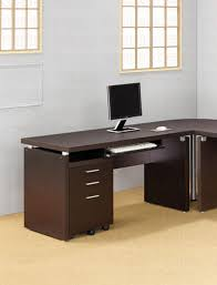 contemporary dark wood office desk. Wonderful Desk Contemporary Dark Cappuccino Main Desk On Wood Office S