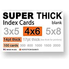 how to print on 3x5 index cards amazon com 100 super thick index cards 4 x6 14pt 0 014