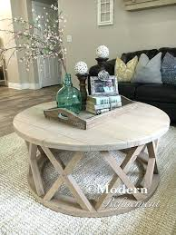 end table decorating gorgeous rustic round farmhouse coffee table farmhouse coffee pertaining to round living room