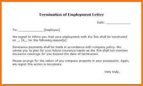 Letter Of Dismissal Template example of termination letters Mayotteoccasionsco 77