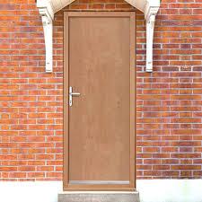 Finished Door & Frame Bundle - Solid Core Flush Vaneer Fire Door - DWLG