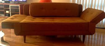 Vintage Retro Mid Century Loveseat Sleeper Sofa Daybed Fold Down Arms Eames  Era