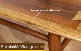 lane coffee table mid century modern acclaim refinished