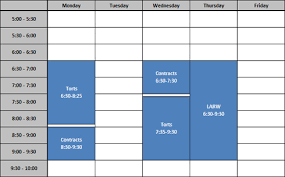Sample Of Schedules Sample Schedule The University Of Akron