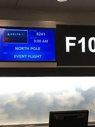 north pole event f concourse delta air