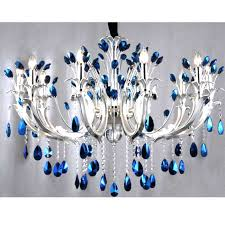 blue crystal chandeliers chandelier intended for decorations chandelier crystals blue