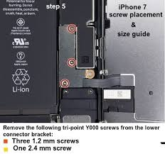 Iphone 6 Screw Size Chart Iphone 6s 7 Disassemble And Reassemble Complete Teardown For
