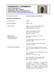 Civil Engineer Resume Samples Philippines Resume 1
