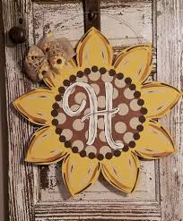 astonishing decoration wood door hangers lush art sunflowerdoor hanger paint class