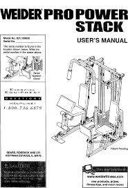 Weider 831159830 User Manual Pro Power Stack Manuals And