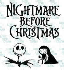Click jack ^ tim burton gifts & collectibles from gorey details. Nightmare Before Christmas Svg Set 3 Images Etsy