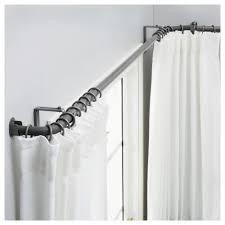 ikea hugad curtain rod combination bay window
