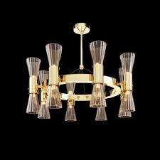 modern gold leaf murano glass designer chandelier