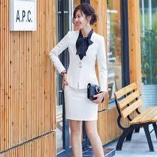 <b>High Quality Fashion Women</b> Skirt Suits White Blazer and Jacket ...