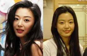 before and korean stars with and without make up
