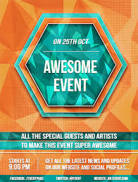 Good Flyers Examples How To Design A Good Flyer Create A Bright Geometric Event Flyer A