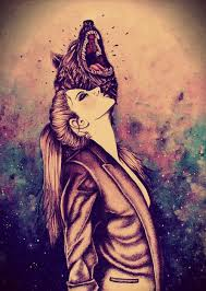 galaxy tumblr hipster wolf. Beautiful Hipster Gif Art Girl Wolf Hipster Moon Grunge Galaxy Paint Howl Bizzare  Tranformation Inside Galaxy Tumblr Hipster Wolf X