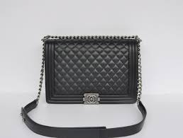 Chanel Black Quilted Boy Bag - tongue in chic & Chanel Black Quilted Boy Bag Adamdwight.com