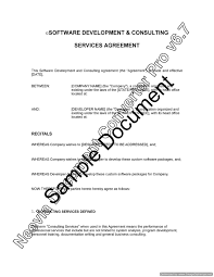 Consulting Service Agreement - Resume Template Sample
