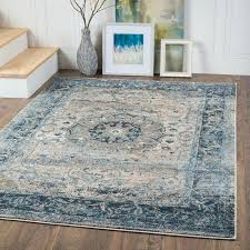blue and brown area rugs light rug cream