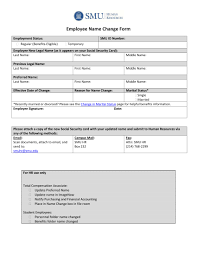 Name Change Form 24 Change Forms To Be Used By Employees Payroll Change Employee 16