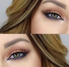 bronze eyeshadow look for green hazel eyes