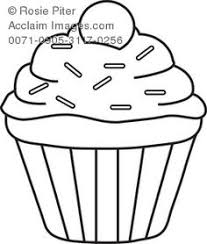 cupcake drawing black and white. Interesting White Cupcake Clipart Black And White  Clip Art Illustration Of A Cupcake   Acclaim Stock Photography Inside Drawing Black And White U