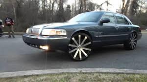 Mercury Grand Marquis on Velocity Wheels at Mlk Park - YouTube