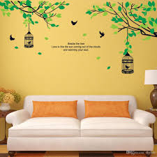 tree branches birdcage birds wall decals for living room bedroom