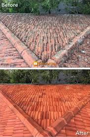 before and after roof cleaning brisbane