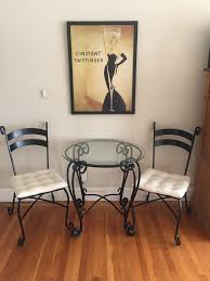 pier 1 wrought iron glass tables for