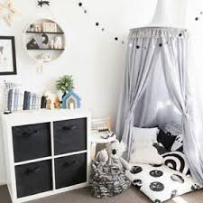 Details about KIDS CHILDRENS BOYS GIRLS PRINCESS CROWN BED CANOPY INSECT MOSQUITO NET Gray