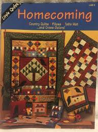 Homecoming Pieced & Applique Quilt Pattern Booklet by Little ... & Picture 1 of 10 ... Adamdwight.com