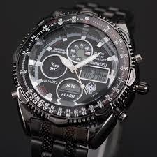 watch shopy max infantry royale aviator pilot analog lcd digital men s sport wrist watch