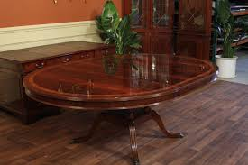 round dining table with leaf extension size