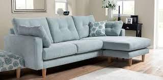 predea duck egg blue corner sofa