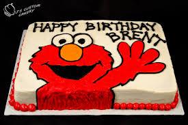 Elmo Cake And Elmo Cupcakes