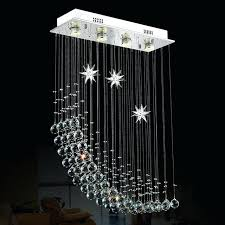 oblong crystal chandelier foyer bedroom living dinning crystal light lamp vintage half moon oblong rectangular crystal chandelier light lamp rectangular