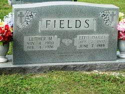 Effie Dailey Fields (1907-1989) - Find A Grave Memorial