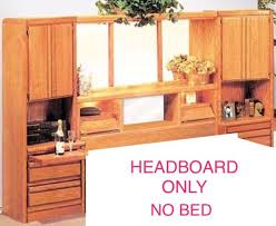 solid wood maple king size wall unit