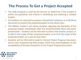 Project Proposal Presentation Ppt The Draft And Formal Project Proposal Ppt Download