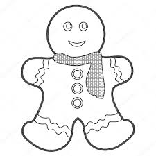 Gingerbread Man Coloring Page Stock Photo Smk0473 129563262