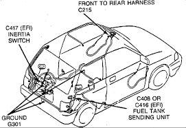 where is the fuel pump relay located on a ford festiva graphic